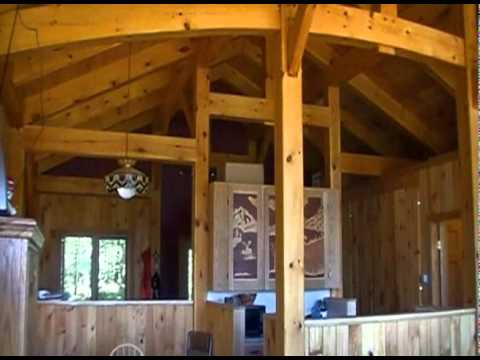 Bristol Mountain Timber Frame Ski Patrol Hut Tour - YouTube