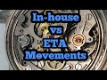 In house movement vs ETA movement serviceability.