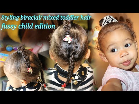 Styling biracial/ mixed toddler multitextured hair (fussy child  hair care edition)