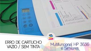 HP 3636 - Acendendo a Luz Cartucho (Cartucho Vazio/Sem Tinta ou Usado/Falsiciado) - SULINK