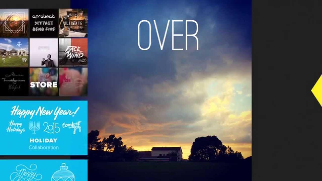 Over La App Para Anadir Texto Y Artwork A Tus Fotos Youtube
