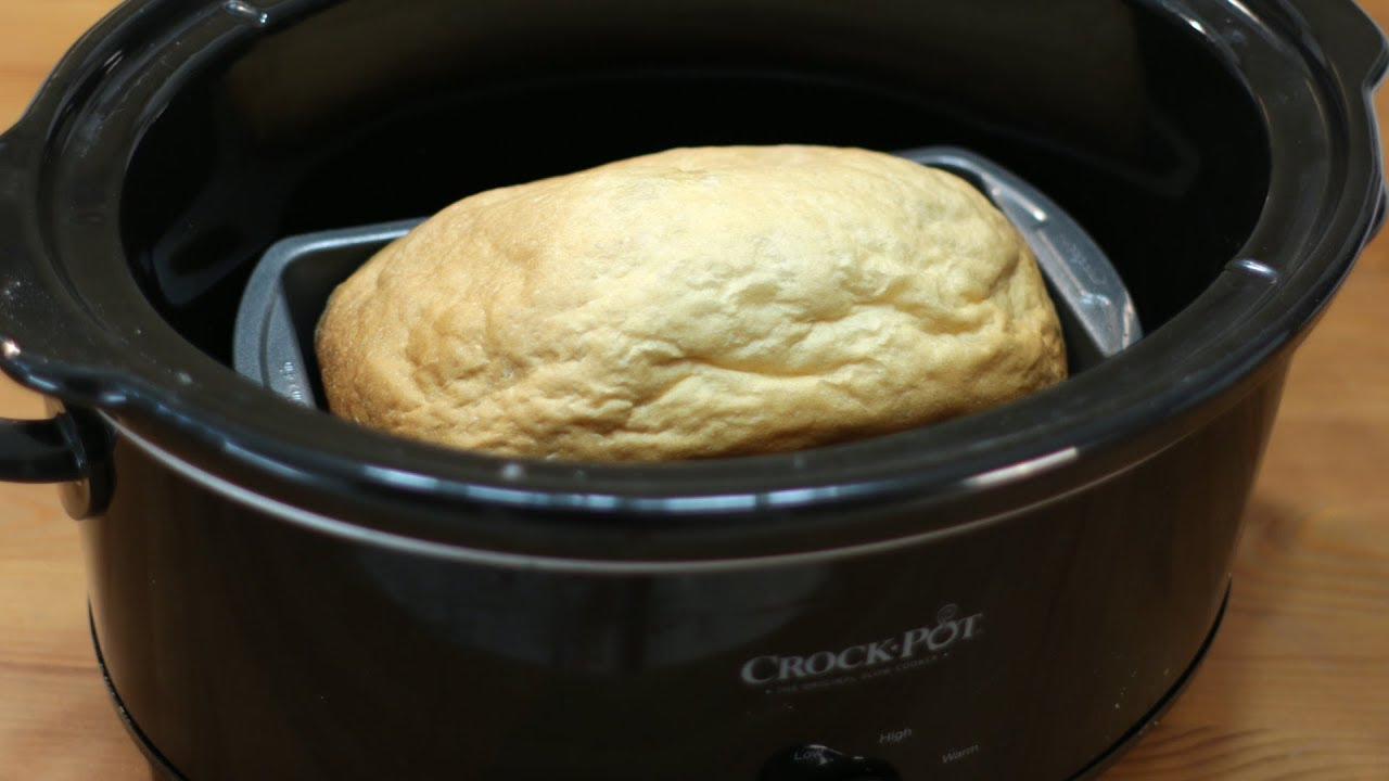 How To Make Bread In A Crock Pot Easy Crockpot Recipe Demonstration
