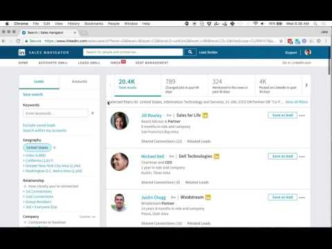 How to use boolean searches in Linkedin Sales Navigator