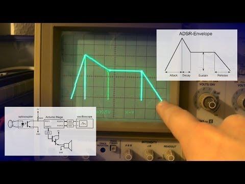 Arduino MIDI synthesizer (Part 3) - ADSR envelope