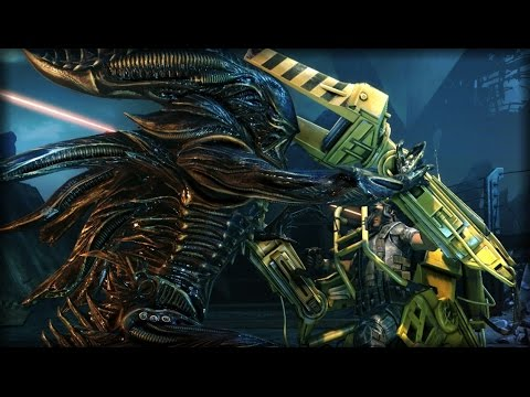 XENOMORPH VS POWERLOADER | Aliens: Colonial Marines (Campaign Part 7)