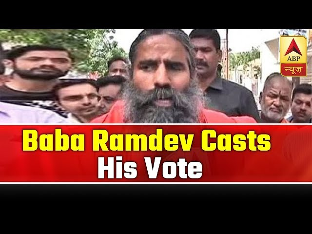 Baba Ramdev Casts His Vote, Says People Will Vote For Indias Security | ABP News