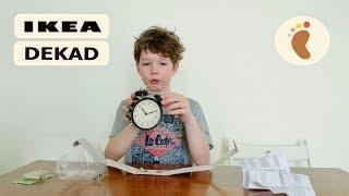 Часы IKEA DEKAD видео обзор часов будильника с громким звоном и батарейки IKEA LADDA