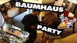 PARTY IM BAUMHAUS + ROOMTOUR - luxus Baumhausübernachtung Geil!   TBATB