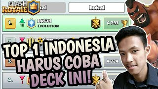 DECK INI MENUNTUNKU KE TOP 1 LOCAL! BURUAN COBAIN HOG CYCLE JOS BANGET!! CLASH ROYALE INDONESIA