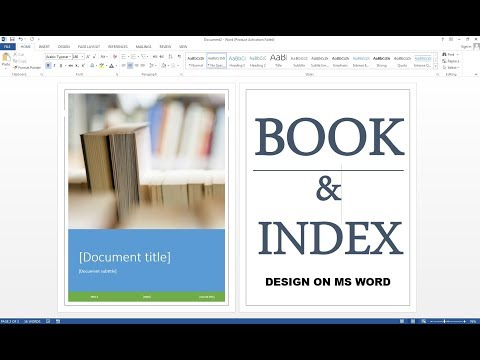 How To Make Book & Index On MS Word HIndi
