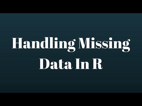 R Programming Tutorial: Handling Missing Data In R