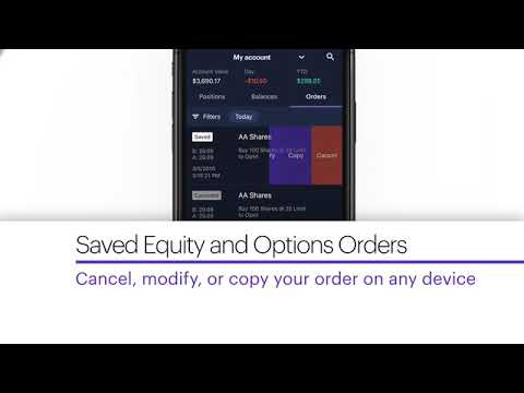 Introducing Saved Equity and Options Orders