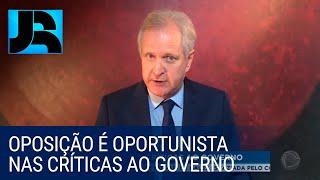 Augusto Nunes: oposição é oportunista nas críticas ao governo