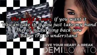 "Demi Lovato - Give your heart a break ""Karaoke Version/Original"""