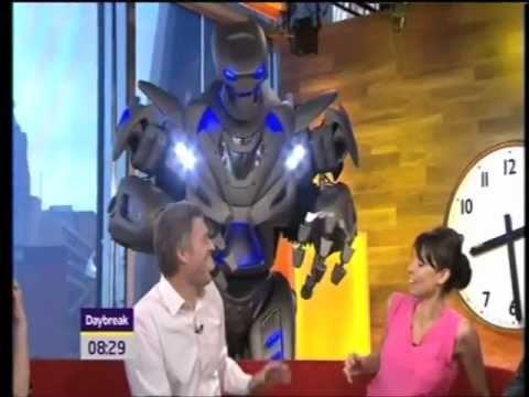 Christine Bleakley and Dan Lobb get a shock on Daybreak thanks to Titan the Robot