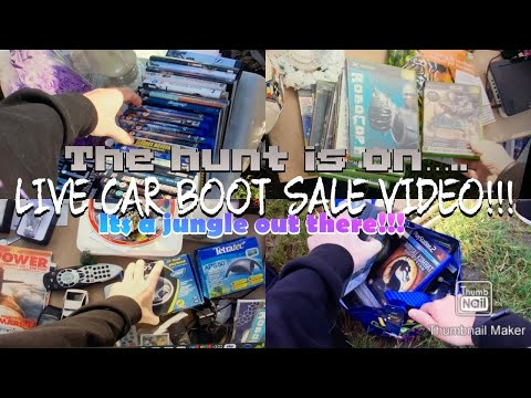 LIVE CAR BOOT SALE VIDEO!!! HUNTING EVERYTHING RETRO…….TRYING…..WE ALWAY TRY…