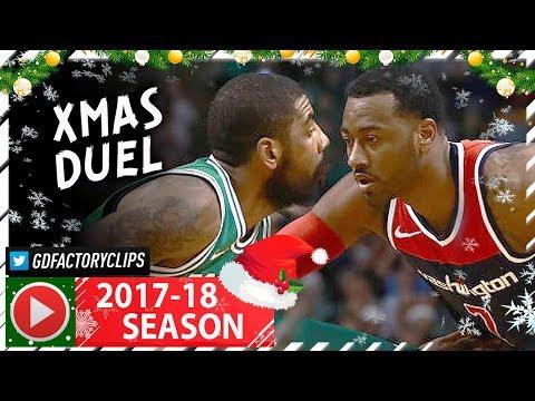Kyrie Irving vs John Wall XMAS PG Duel Highlights (2017.12.25) Celtics vs Wizards - TOO SICK!