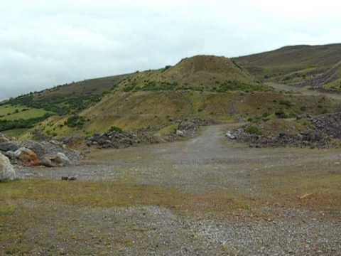 Spoil heaps at Magcobar Mine, Silvermines, Co. Tipperary, Ireland