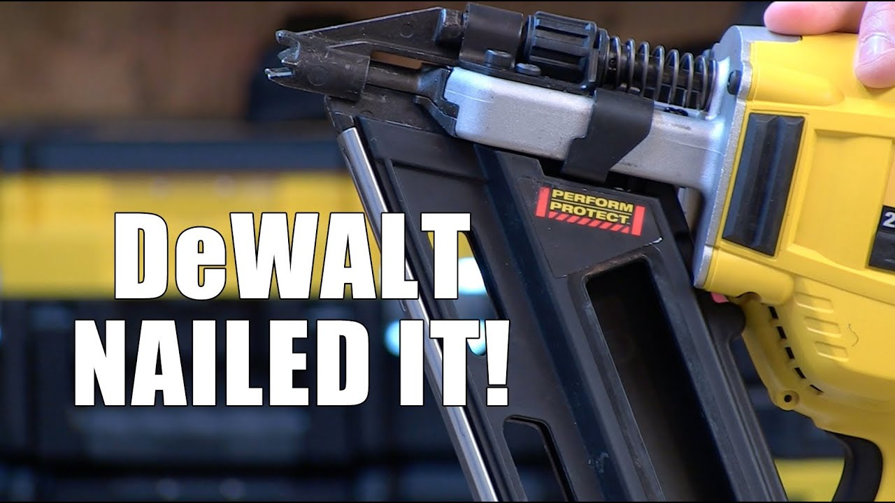DeWALT DCN692 Cordless 20V framing nailer - YouTube