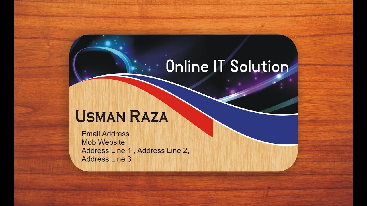 How To Create Business Card In Corel DRAW With Online It Solution ...