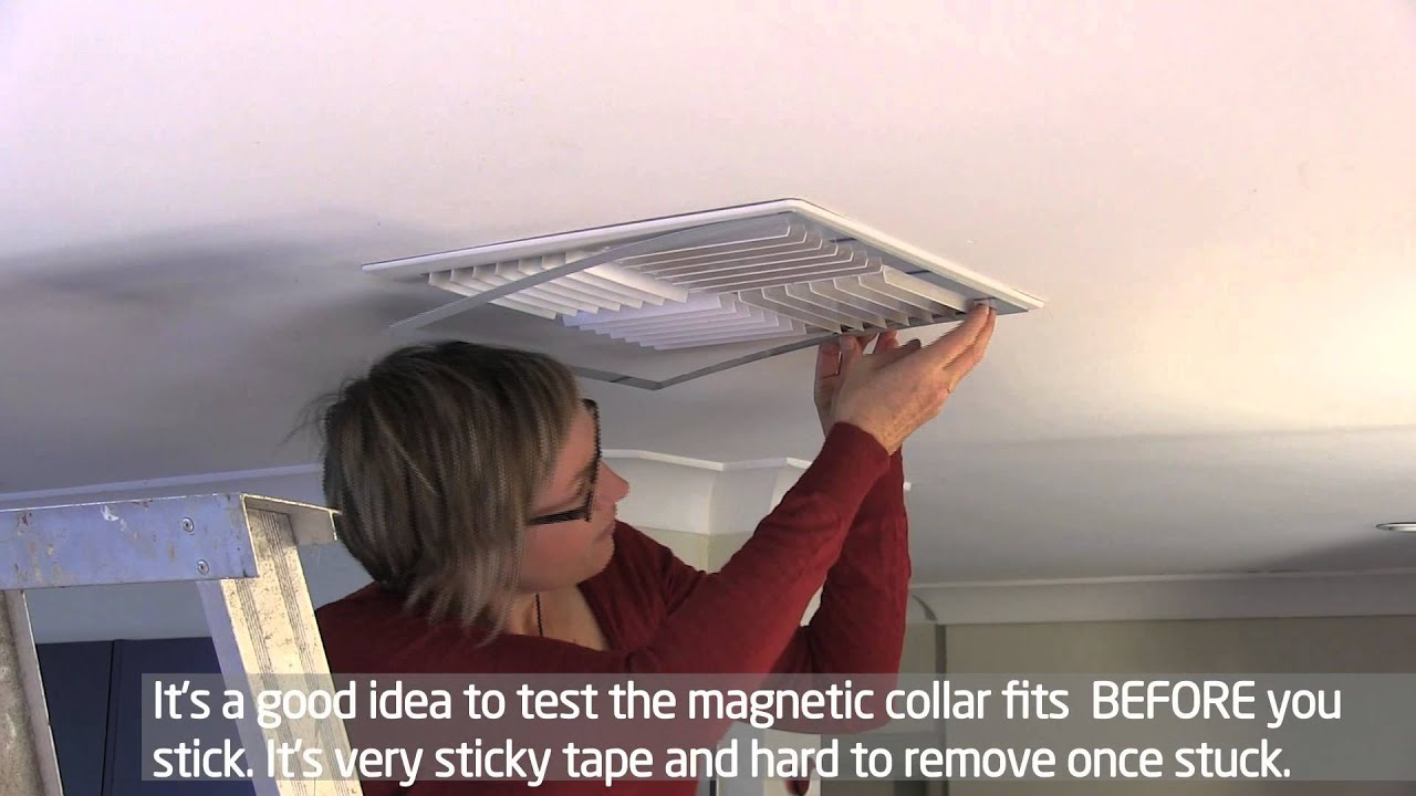 draft proofing an evaporative cooler vent - youtube