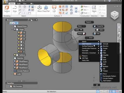 inventor fusion video tutorial surface design create a four pipe rh youtube com Tutoriel Basique Inventor Fusion 2012 Curso Inventor Fusion 2012