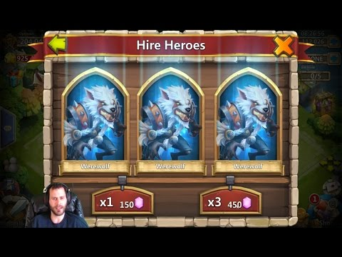 Rolling 125,000 Gems For RONIN New Hero Castle Clash