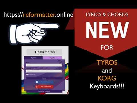 Text Dateien formatieren für TYROS und KORG Pa-X Keyboard