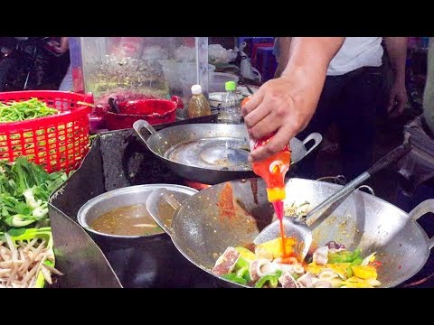 Asian Street Food - Fast Food Street in Asia, Cambodian food #68