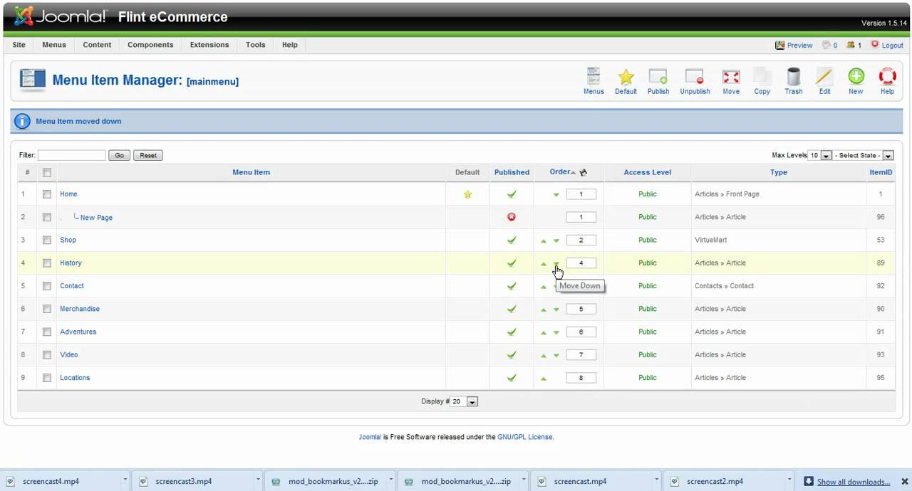 Joomla Web Design Tutorial Menu Parameters, Contact Page - YouTube