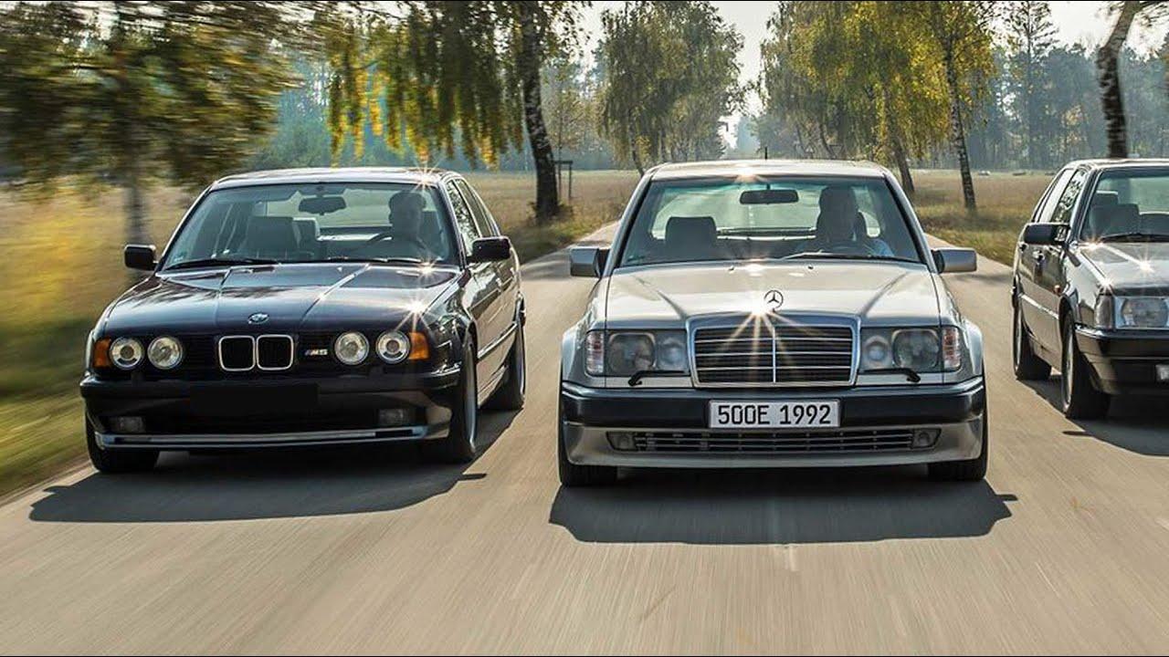 BMW M5 E34 против Mercedes Е500 w124, яростная схватка - Alpina B10 Biturbo, AMG Hummer, E60 AMG!