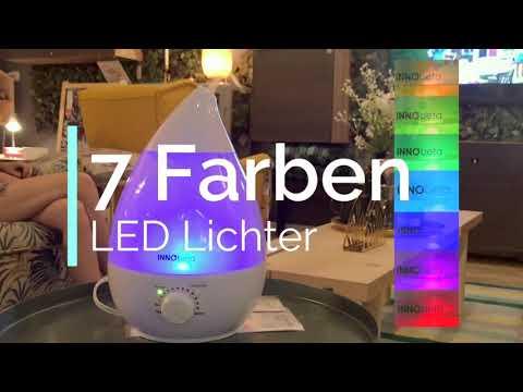 InnoBeta 2,4 Liter Ultraschall-Luftbefeuchter Cool Mist Mit Filter