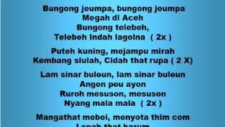 Lagu dan Tari Nusantara: BUNGONG JEUMPA - Lagu Anak