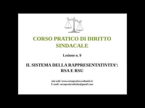9.  IL SISTEMA DELLA RAPPRESENTATIVITA' RSA E RSU