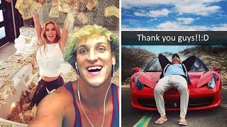 10 RICHEST YOUTUBE VLOGGERS WORTH MILLIONS (FaZe Rug, Jake Paul, Logan Paul, Tanner Fox etc.)