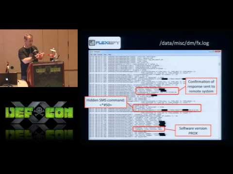 DEF CON 20 - Michael Robinson and Chris Taylor - Spy vs Spy: Spying on Mobile Device Spyware