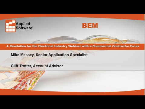 BEM: A Revolution for the Electrical Industry Webinar with a Commercial Contractor