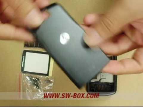 Motorola SLVR L7 Housing Faceplate Cover - Black @www.sw-bo