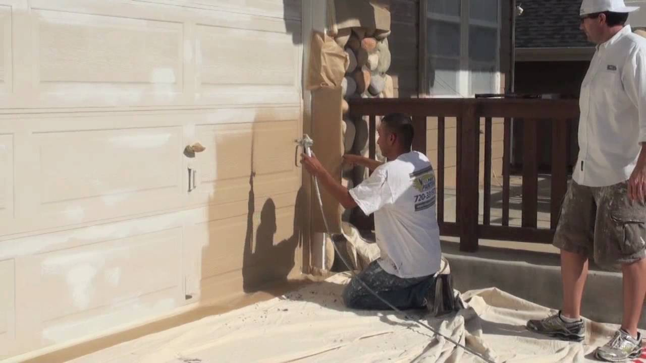 Exterior Paint Spray Shield Youtube