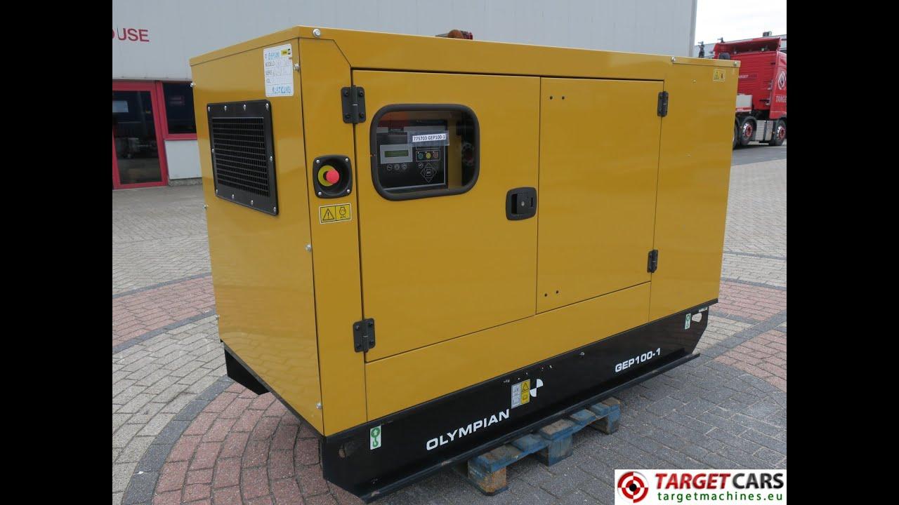 CAT OLYMPIAN GEP100 1 DIESEL GENERATOR SET 88KVA 400V 230V