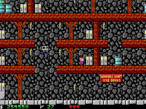 Apogee Crystal Caves I, Troubles With Twibbles, 1991. Level 12 Walkthrough