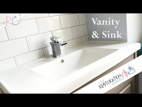 Bathroom Renovation 9.0 | Fitting Sink and Vanity Unit