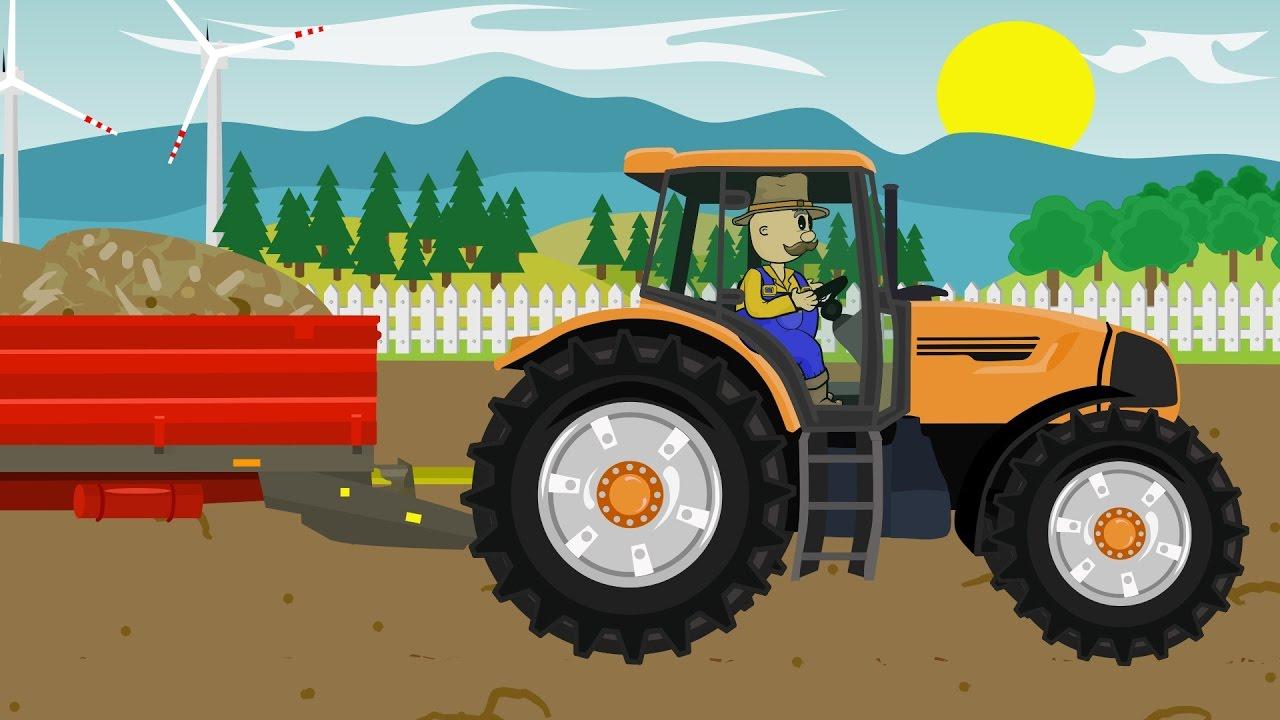 ☻ Farmer | Farm Work - Manure | Bajki Dla Dzieci | Praca Rolnika ...
