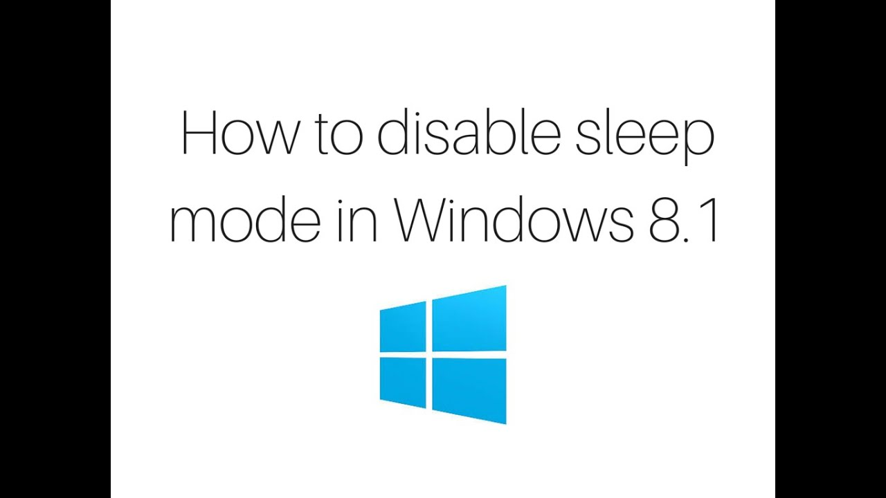 Windows 81 sleep mode