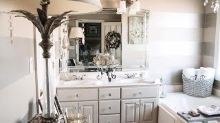NEW! MASTER BATHROOM TOUR AND ORGANIZATION TIPS | HOW TO ORGANIZE UNDER BATHROOM SINK| SURPRISE!