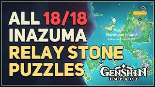 All 18 Inazuma Relay Stone Puzzles Genshin Impact