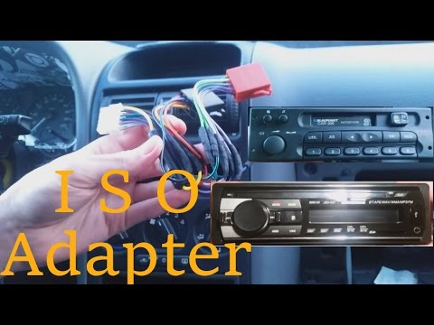 iso adapter f r auto radios selbst verl ten bauen opel astra g tuning radio youtube. Black Bedroom Furniture Sets. Home Design Ideas