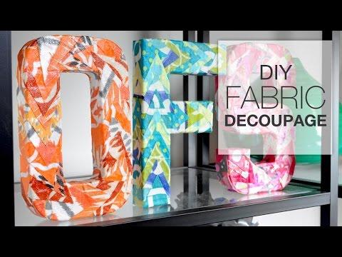 Diy Decoupage With Fabric Youtube
