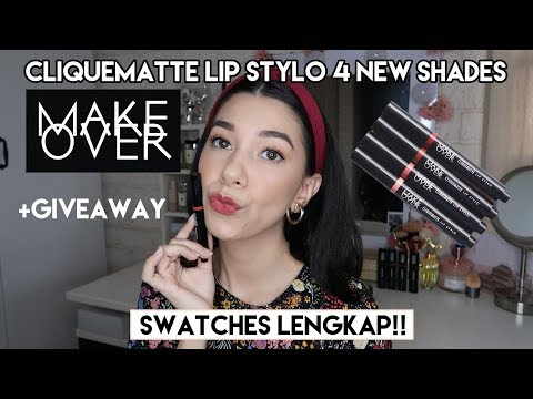 make-over-4-new-shades-cliquematte-lip-stylo-terbaru---swatches-lengkap-+-giveaway-|-she&cat