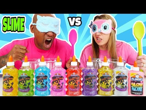NO CHEATING!! Blindfolded Slime Challenge Parents Edition